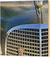 1937 Cadillac Hood Ornament And Grille Wood Print