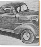 1937 Chevy Wood Print