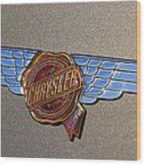 1937 Chrysler Airflow Emblem Wood Print