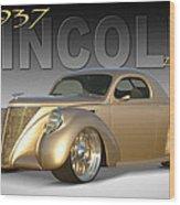 1937 Lincoln Zephyr Wood Print