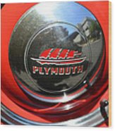 1937 Plymouth Hubcap Wood Print