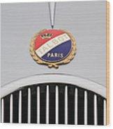 1937 Talbot-lago Emblem Wood Print