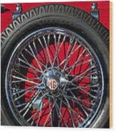 1938 Mg Ta Spare Tire Wood Print