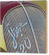 1938 Steyr 220 Glaser Roadster Grille Emblem Wood Print
