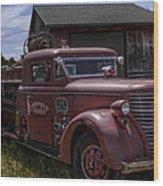 1939 American Lafrance Foamite Wood Print
