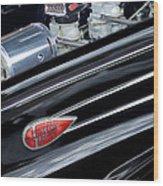 1939 Lincoln Zephyr Engine Wood Print