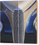 1940 Cadillac Lasalle Convertible Grille Wood Print