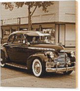 1940 Chevrolet Special Deluxe - Sepia Wood Print