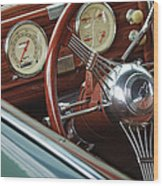 1940 Chevrolet Steering Wheel Wood Print
