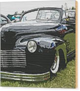 1940 Chevy Convertable Wood Print