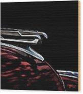 1940 Chevy Hood Ornament Take 2 Wood Print