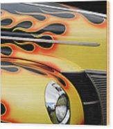 1940 Flames Wood Print