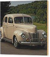 1940 Ford Deluxe Sedan Hot Rod Wood Print