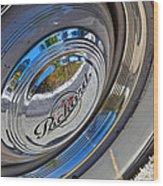 1940 Packard Hubcap Wood Print