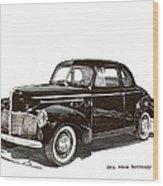 Studebaker Business Coupe Wood Print