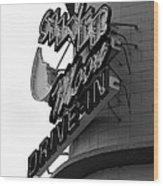 1940s Drive In Wood Print