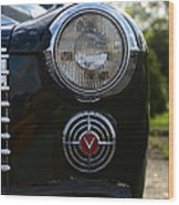 1941 Cadillac Headlight Wood Print