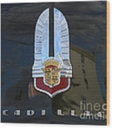 1941 Cadillac Hood Insignia Wood Print