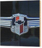 1942 Chevrolet Emblem Wood Print