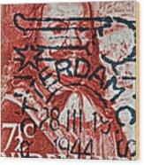1944 Netherlands De Ruyter Stamp - Rotterdam Cancelled Wood Print