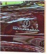 1947 Studebaker Name Plate Wood Print