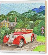 1948 Alvis English Countryside Wood Print