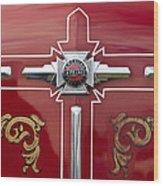 1948 American Lefrance Fire Truck Emblem Wood Print