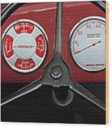1948 Crosley Dashboard Wood Print