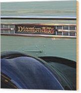 1948 Diamond T Truck Emblem 2 Wood Print