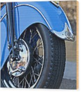 1948 Indian Chief Motorcycle Wheel Wood Print
