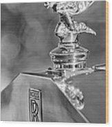 1948 Rolls-royce Hood Ornament 2 Wood Print