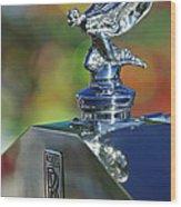 1948 Rolls-royce Hood Ornament Wood Print