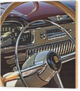 1949 Cadillac Sedanette Steering Wheel Wood Print
