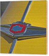 1949 Chevrolet Sedan Hood Emblem Wood Print