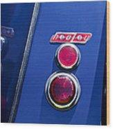 1949 Healey Silverstone Taillight Emblem Wood Print