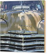 1949 Plymouth Delux Sedan . 5d16205 Wood Print by Wingsdomain Art and Photography