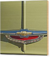 1950 Chevrolet Fleetline Emblem Wood Print
