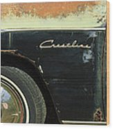 1950 Ford Crestliner Wheel Emblem Wood Print