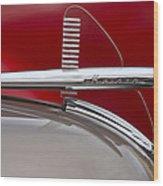 1950 Kaiser Hood Ornament Wood Print