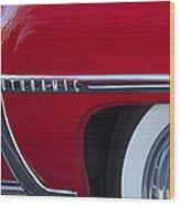 1950 Oldsmobile Rocket 88 Wheel Wood Print