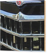 1950 Willys Jeepster Grille Emblem Wood Print