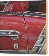 1950s Chevrolet Belair Chevy Antique Vintage Car 3 Wood Print