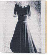 1950s Dress Wood Print by David Ridley