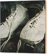 1950's Roller Skates Wood Print by Michelle Calkins