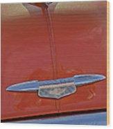 1951 Chevrolet Sedan Delivery Hood Ornament Wood Print