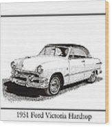 1951 Ford Victoria Hardtop Wood Print by Jack Pumphrey