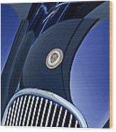 1951 Jaguar Proteus C-type Grille Emblem 4 Wood Print by Jill Reger