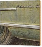 1951 Nash Ambassador Side Logo Wood Print
