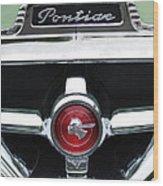 1951 Pontiac Streamliner Grille Emblem Wood Print