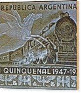 1951 Republica Argentina Stamp Wood Print